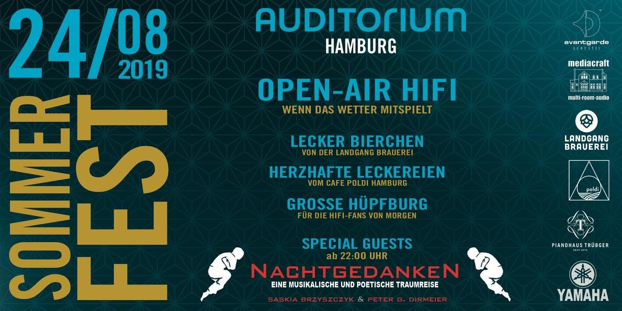 Banner Sommerfest Auditorium